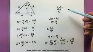 Trigonometry - Find The Missing Values In The Figure
