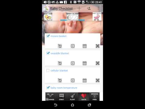 Video of Newborn Baby Checklist