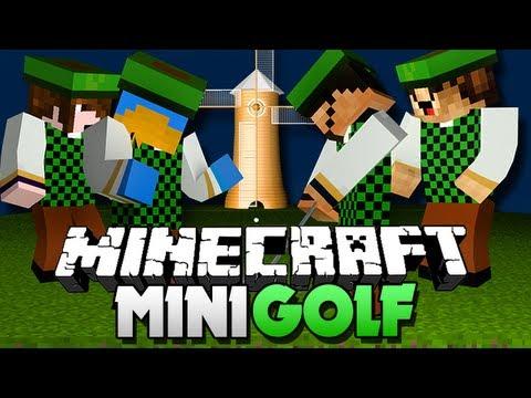 Minecraft Mini-Golf!! GET OVER THE WALLZ!!