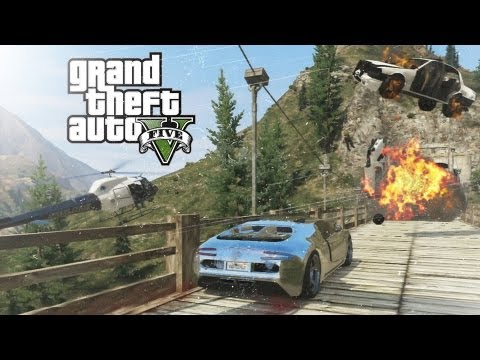GTA V - Mount Chiliad Police Chase