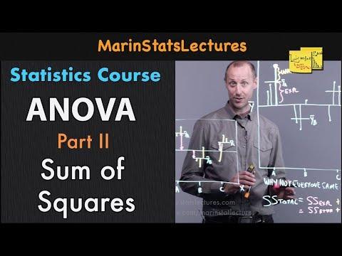 ANOVA: Understanding Sum of Squares |Statistics Tutorial #26 | MarinStatsLectures