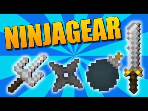NINJAGEAR: El Mejor Mod De Ninjas - Minecraft Mod 1.9