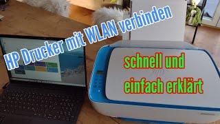 HP Drucker mit Wlan verbinden HP DJ 3630 einrichten Wlan WPS verbinden