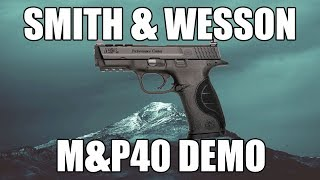 "Smith & Wesson 10150U M&P40 .40S&W 4.25"" 15+1 Black M&P Logo Black Polymer Frame/Black Stainless Slide"
