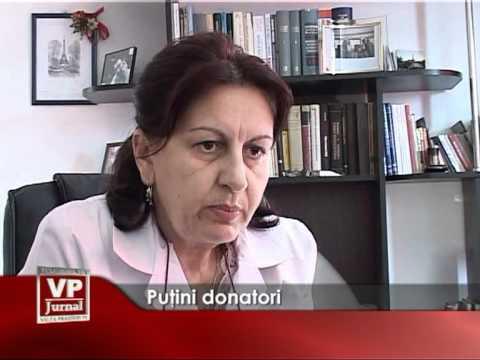 Puţini donatori