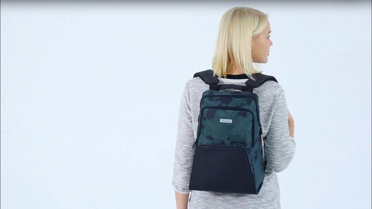 Рюкзак Moleskine Nomad Medium (Camo Contrast) ET83BKMCAMOC1 video preview
