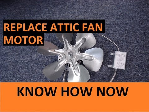How to Replace Air Vent Attic Fan Motor