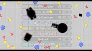 0 Reload Streamliner + Fac & Battleship Gameplay    Diep.io