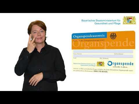 Organspende - erklärt in Deutscher Gebärdensprache