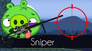 Bad Piggies - SNIPER! (Field of Dreams) - Piggy's Rifle