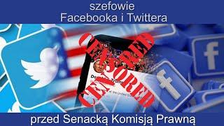 WI Szefowie Facebooka i Twittera przez Senacką Komisją Prawną