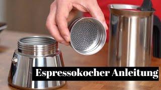 Espressokocher Kurzanleitung | So holst du alles aus der Herdkanne von Bialetti heraus!