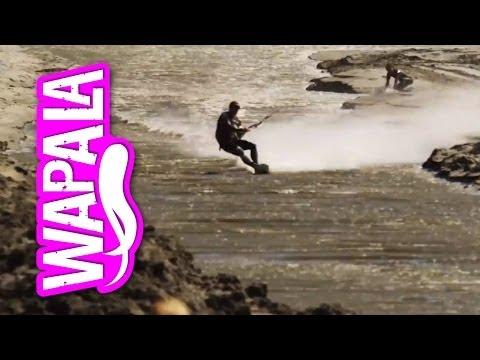 Watch This Kiteboarder Break A World Speed Record Between Sharp Rocks