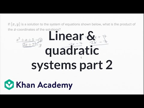 Linear and quadratic systems — Harder example (video