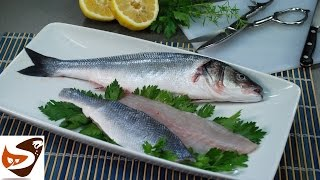 Come pulire il pesce: orata, branzino, salmone, spigola - secondi di pesce (how to clean a fish)
