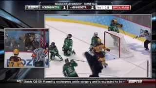 Gophers Beat Buzzer UND Frozen Four Semi