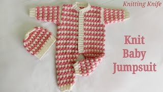 बच्चे की जंप सूट बुनाई, Knit Jump Suit/Romper For 2-6 Months Old