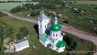 Аэросъемка села Турминское (Кайбицкий район, Троицкая церковь)