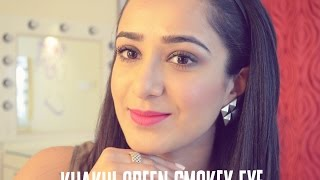 Image for video on Khakhi Green Smokey Eye | Daywear Smokey Eye by Tejasvini Chander