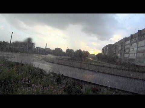 слушать звук дождь ливень гром Live Rain Sound