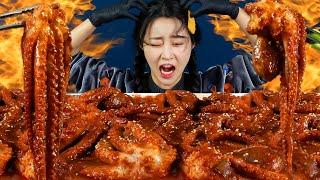 MUKBANG ASMR   Extreme Hot🔥! Spicy Stir-Fried Octopus Bibimbap Noodles Eat Korean Eatingshow 아라 Ara