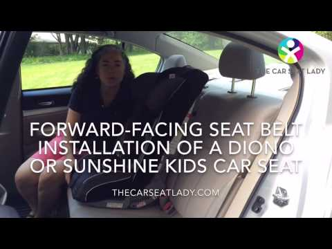 How to Install a Diono Car Seat Forward-Facing (Seat Belt + Tether)