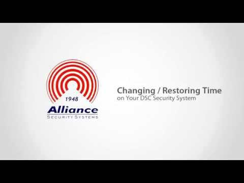 Alliance Alarms Instructional | Changing/Restoring the Time on Your DSC Security System