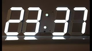 a343218c3650 Unboxing y montaje del Reloj digital LED de pared.