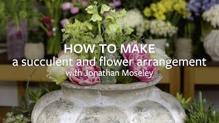 How to make a succulent and flower arrangement