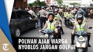 Polwan Jakut Ajak Warga Nyoblos 17 April 2019