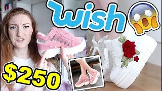 $250 WISH SHOE HAUL AND TRY ON!! 2018