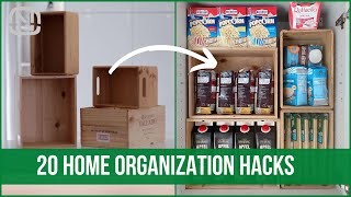 20 Best Life Hacks For Organizing Your Home | OrgaNatic