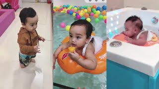 Arif Jiwa & Siti Aafiyah Pergi Swimming Kat Baby Spa
