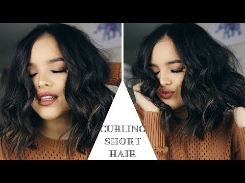 HOW TO: CURL SHORT HAIR USING THE BEACHWAVER! | CassidySecrets