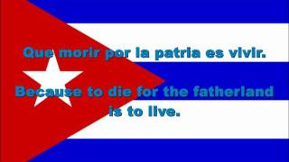 Cuba National Anthem English lyrics