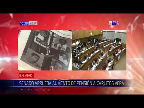 Senado aprobó aumento de pensión graciable para Carlitos Vera
