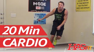 20 Min Cardio Burn - HASfit Cardio Workout to Lose Belly Fat (and all fat!) - Cardio Exercises by HASfit