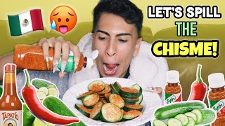 BOMB AF PEPINOS CON CHILE MUKBANG | Louie's Life