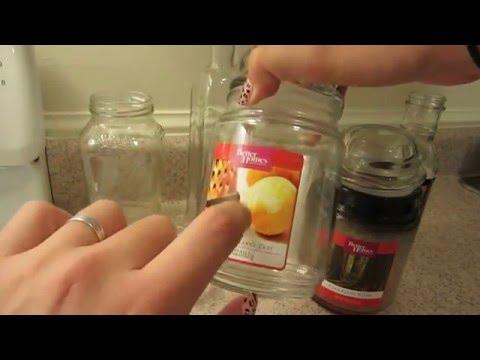 Cómo quitar la etiqueta de los frascos de vidrio y cómo limpiar la cera de las velas