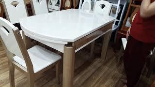 Bộ bàn ăn mặt đá xếp gọn thông minh - 0931098040 Mr An