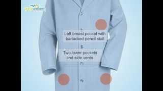 Red Kap Lab Coats - RE-KP14LB 41.5 Inch Mens Button Front Uniform