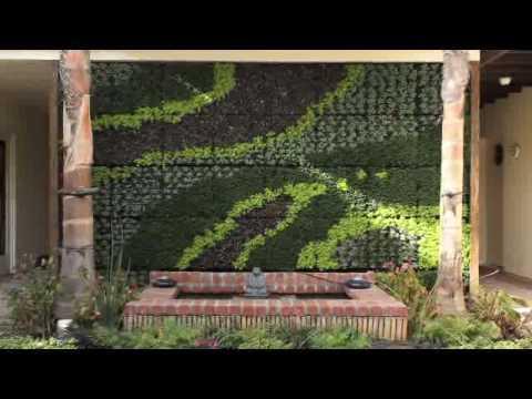 Bright Green Living Wall Planter