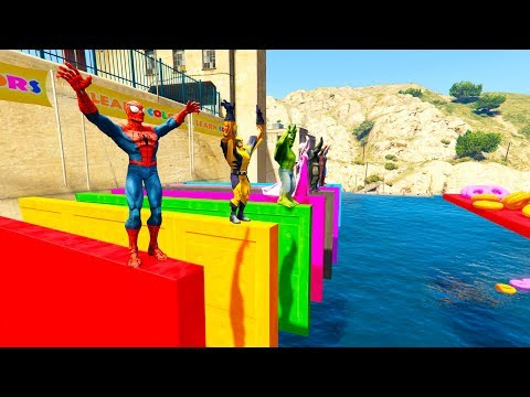 Download SUPERHERO DIVING Learn COLOR and Numbers cartoon for kids and baby nursery rhymes HD Mp4 3GP Video and MP3