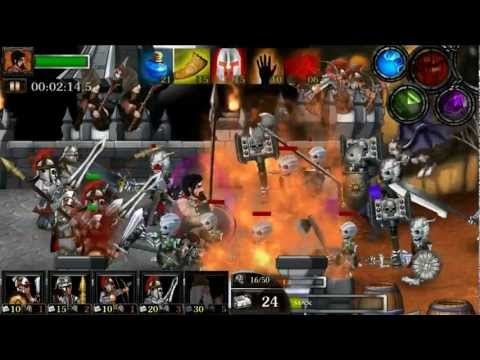 Video of Spartans vs Zombies defense HD