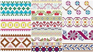 Gorgeous Table Cover And Bed Sheet Cross Stitch Border Line Idea