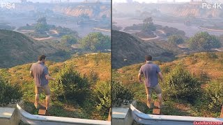 GTA 5 Pc 4K Vs PS4 Graphics Comparison