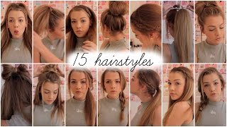 15 heatless hairstyles || Lilyellaburt ♡