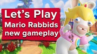 Let's Play Mario Rabbids: 29 minutes of Mario + Rabbids Kingdom Battle Gameplay