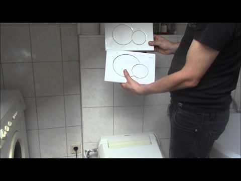 Geberitbetätigungsplatte, WC Spülung -  abnehmen - öffnen - auswechseln