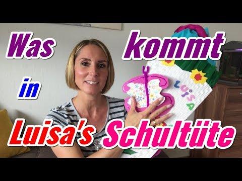Luisa's Schultüte füllen | Einschulung